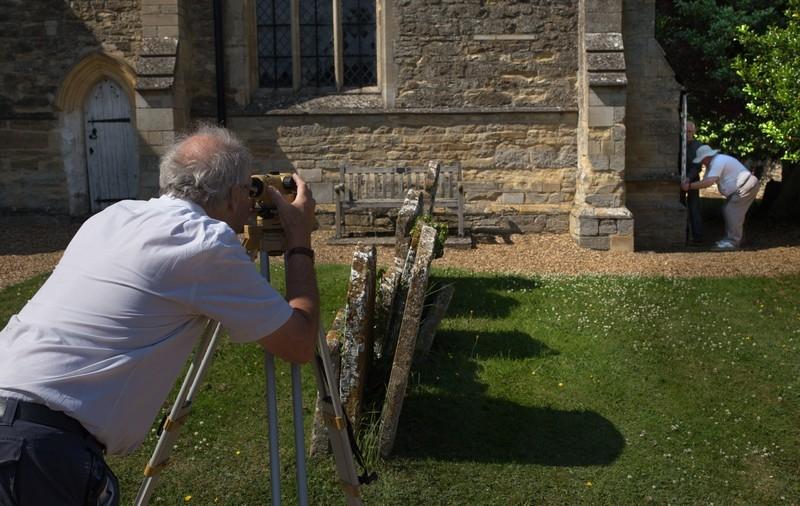 Surveying from Church benchmark