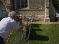 Surveying from Church benchmark